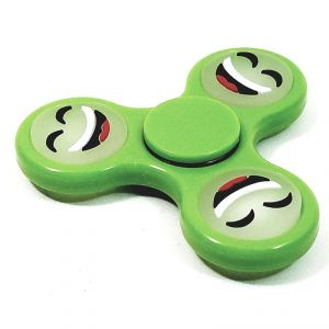 Spinner Green Smiley Face Emoji Glow In The Dark Fidget Spinner Stress Reducer Ceramic & Metal Bearing