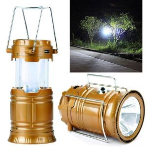 Rechargeable 220v Solar 6-led Camping Lantern Light With Power Bank Tent Lamp (code - Jm Tr Ch 70)