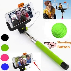 Pocket Monopod Selfie Stick With Aux Cable Supports All Android Phones And Iphones