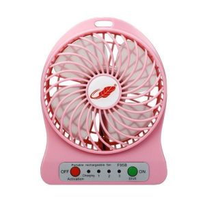 Futaba Mini Rechargeable Portable Fan - Pink