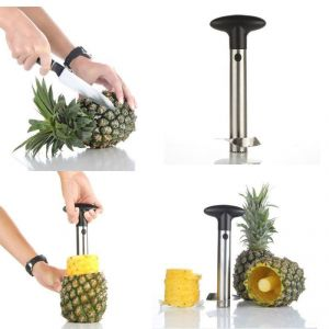 Snapshopee Silver Stainless Steel Pineapple Cutter