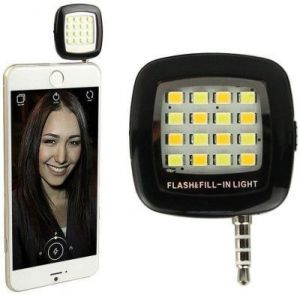 Portable Mini 16 LED Night Using Selfie Flash Fill-in Light Pocket Spotligh