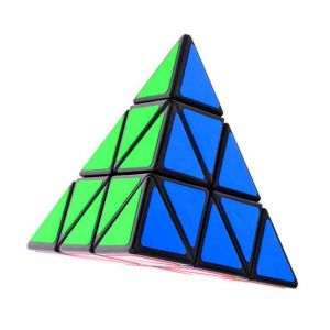 Emob High Speed Neon Color Triangle Pyraminx Magic Cube Puzzle Toy Black