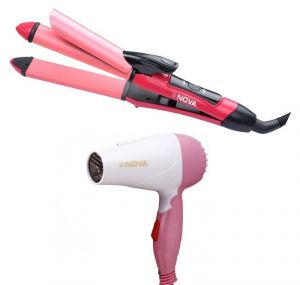 Combo Offer Of Nova Hair Curler/straightener And Hair Dryer