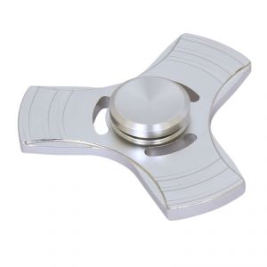 Wheel Power Mettalic Silver Fidjet Spinner