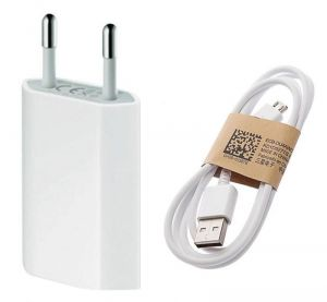 Ksj Hi Quality White USB 1 Amp Travel Charger For Lenovo Mobiles