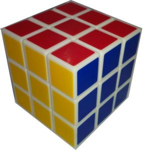 Negis Cube 3 X 3 X 3 (white Border Medium Shaped)