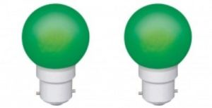 Ornate 0.5 W LED Bulb (green, Pack Of 2)