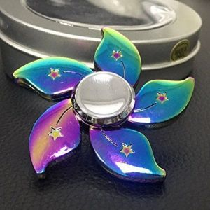 Rainbow Flower Fidget Spinner Metal Hand Finger Spinner For Autism Adhd Focus Relief Stress Toys Kid Adult