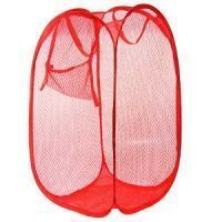 Foldable Small Laundry Bag Basket With Mesh Fabric Pocket