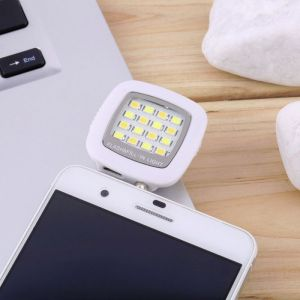 Portable Mini 16 LED Selfie Enhancing Dimmable Mobile Flash Fill-in Light