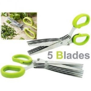 Stainless Steel 5 Blade Multi Cut Sharp Fresh Herb Scissors