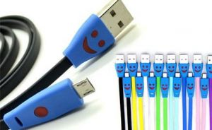 LED Smiley Micro USB Smartphone Cable