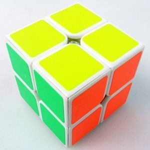 1 X New Yj Moyu Lingpo 2x2x2 Speed Cube Puzzle Smooth 2x2 White