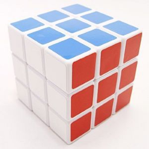 Lanlan Blue Magic 3x3 Sticker Speed Cube-white