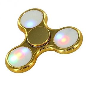 Totu Light Light Up LED Tri Blade Fidget Finger Spinner Toy Gold