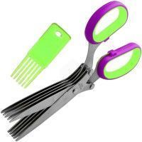 Connectiwde-herbs Scissor With 5 Blades (stainless Steel)