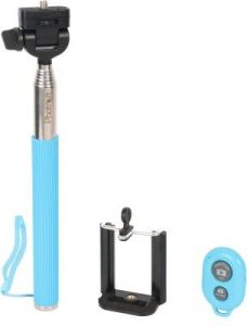 Trioflextech Blue Bluetooth & Remote Selfie Stick