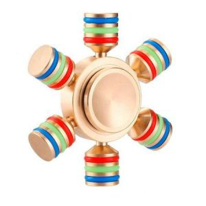 Golden 6 Arms Fidget Spinner Anti Stress Toy Hand Spinner