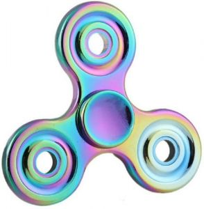 Emob High Quality Metal Body Rainbow Color Hand Spinner Toy (multicolor)