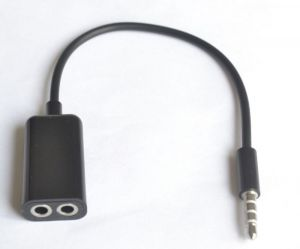 3.5mm 1 To 2 Stereo Headphone, Earphones Splitter Cable Black