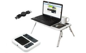 Portable Laptop E-table With 2 USB Cooling Fans