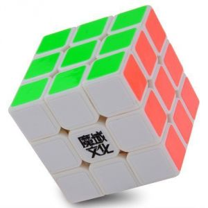 3x3x3 Yj Moyu Weilong Plus 54.5mm White Version 2 Speed Cube Puzzle New V2 3x3