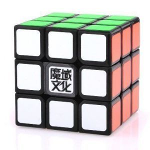 3x3x3 Yj Moyu Weilong Plus 54.5mm Black Version 2 Speed Cube Puzzle New V2 3x3