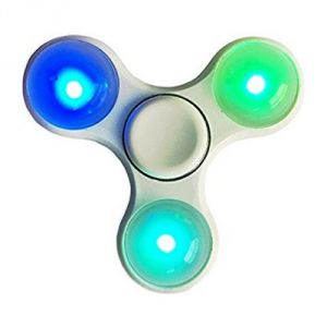 2 PCs LED Fidget Hand Spinner For Fun, Multicolour Lights, Focus, Anxiety & Autism
