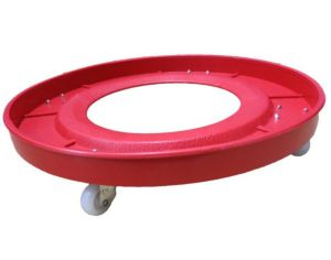 Ebig Shopping Plastic Gas Cylinder Trolley With Red Color