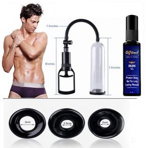 Ed Vacuum Pump 50% Extra More Pressure With 3 Silicon Sleeves Plus Delay Gel 50 Ml Combo Super Saver Pack