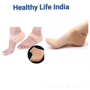 Go-erect Silicone Gel Heel Pad Socks For Heel Pain Relief, Cracked Heels Repair Foot Care Heel Support