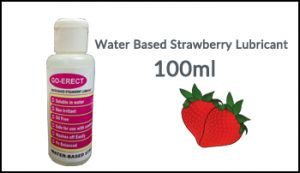 Go Erect Water Based Strawberry Lubricant 100ml