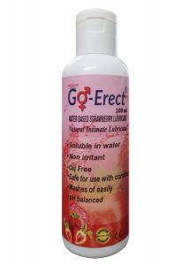 Go-erect Strawberry Flavoured ( Natural Intimate Lubricant )100ml