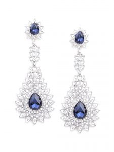 Rubans Fashion Silver Drop Earrings (code - R100250)