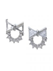 Rubans Fashion Silver Stud Earrings (code - R100339)
