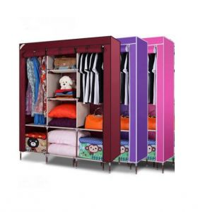 Home Basics 3 Door 88130 Folding Wardrobe Cupboard Almirah Best Quality
