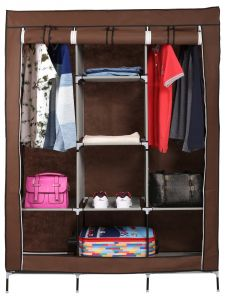 Unique Cartz Diy 3 Door 88130 Folding Foldable Almirah Wardrobe Cupboard