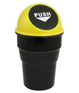 Accessoreez Black & Yellow Plastic Car Trash Bin