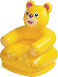 New Heavy Duty Intex Kids Teddy Bear Inflatable Air Chair Kids Ted