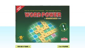 Playmate Word Power Premium Board Puzzle - A Crossword Game With Sand Timer. Age 8 Years + / 2-4 Players