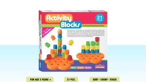 Playmate Activity Block 21 PCs - Early Skill Development Blocks. Age 2 To 5 Years