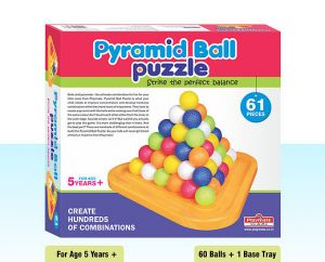 Playmate Pyramid Ball 61 PCs - Strike The Perfect Balance. Age 2 To 5 Years