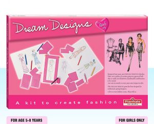 Playmate Dream Designs - A Kit To Create Fashion, Age 5 To 8 Years+