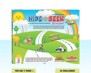 Playmate Hide N Seek Transport Theme Board Puzzle. Age 5 To 8 Years +