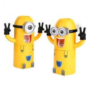 Minion Toothpaste Dispenser - Can Hold 2 Brushes