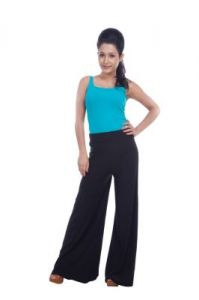 Home Basics Free Size Black Lycra Palazzos Trouser Fror Women