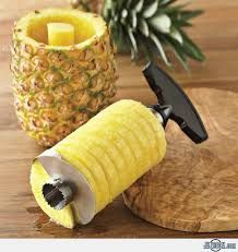 Home Basics Stainless Steel Pineapple Peeler Pine Apple Slicer Pine Apple Corer / Cutte