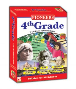 Children's Movies (English) - Branded PIONEERS GRADE- 4 English EVS  Science Maths GK CD (Pack of 5) Universal Syllabus