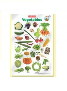 Toys for Preschoolers - Apple Tree Vegetables PreSchool Charts - 1 ( 13.5 inch * 19.5 inch) Wall Chart